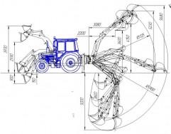 Экскаватор-погрузчик ЭП-Ф-П-01 со смещаемой осью копания с телескопом