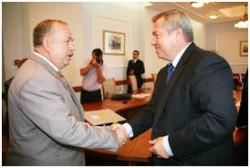 Василий Голубев встретился с послом Республики Белоруссия